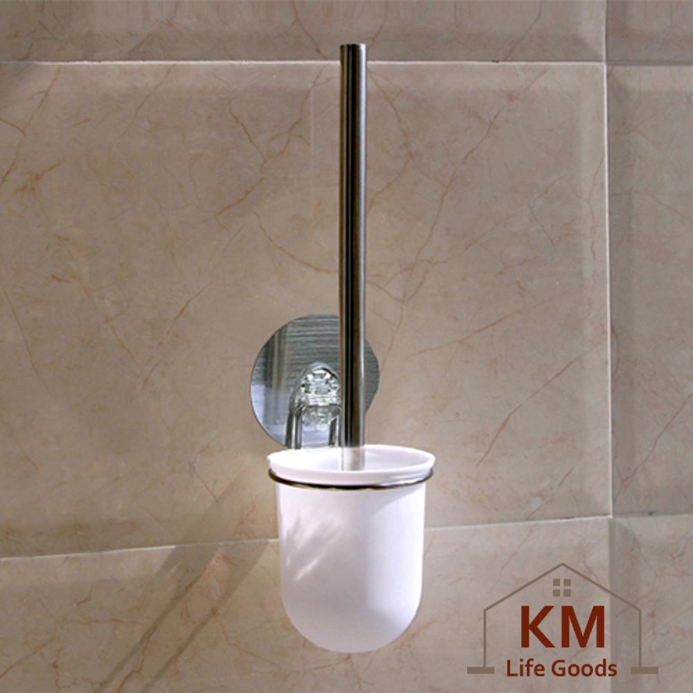 【KM生活】日式簡約無痕不鏽鋼魔力貼馬桶清潔套裝