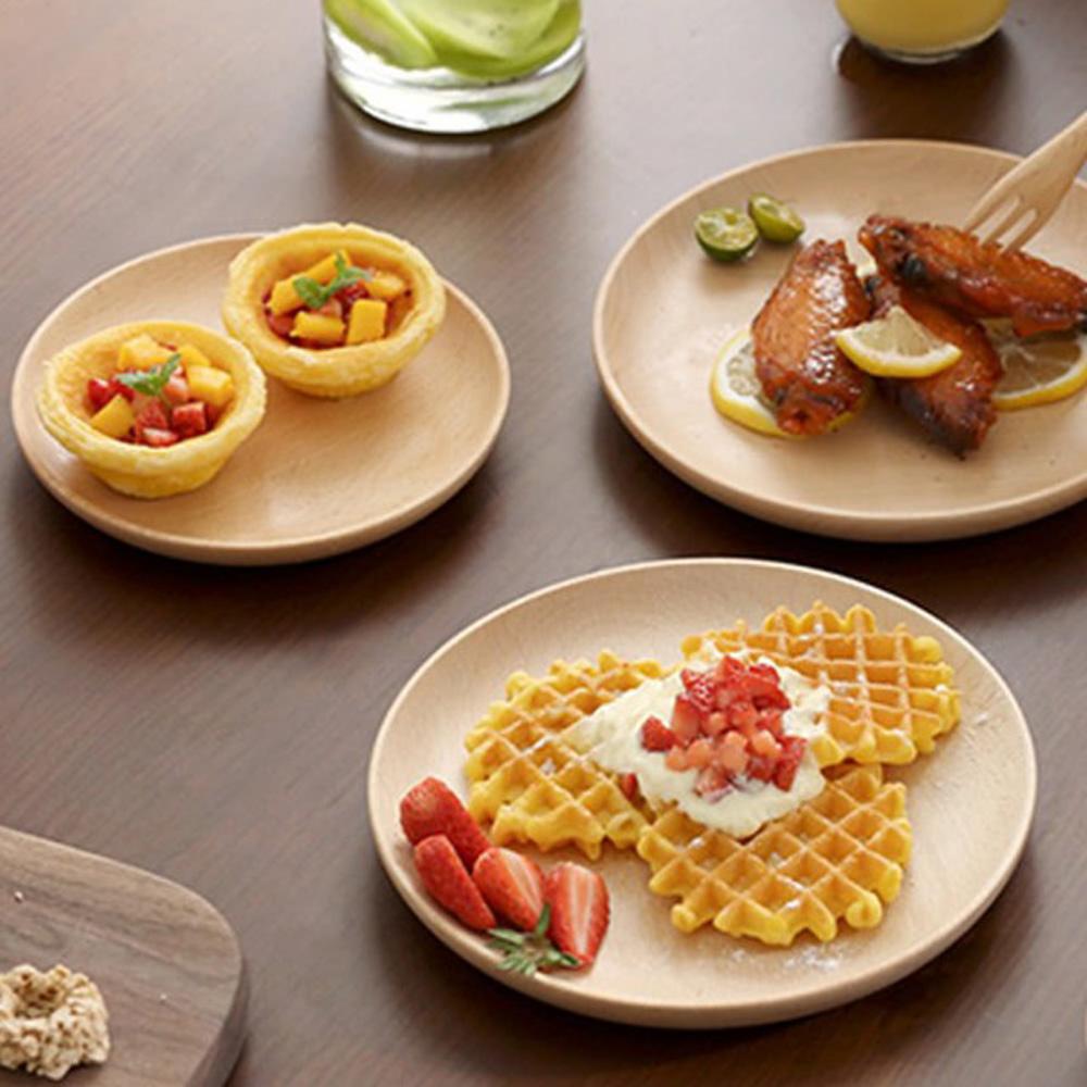 【Homely Zakka】木趣食光相思木圓型點心盤/餐盤 (大圓20*20)