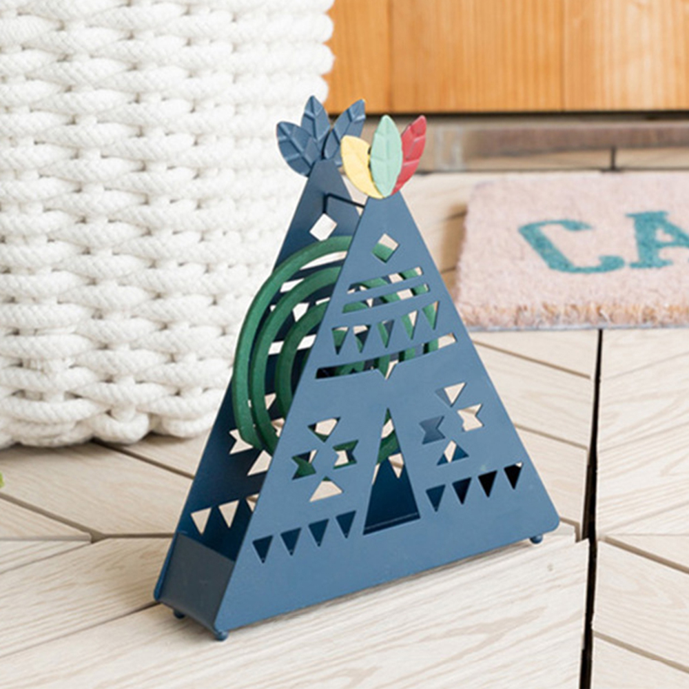 【Meric Garden】創意手工印地安帳篷蚊香盒/薰香盤/小物收納盤