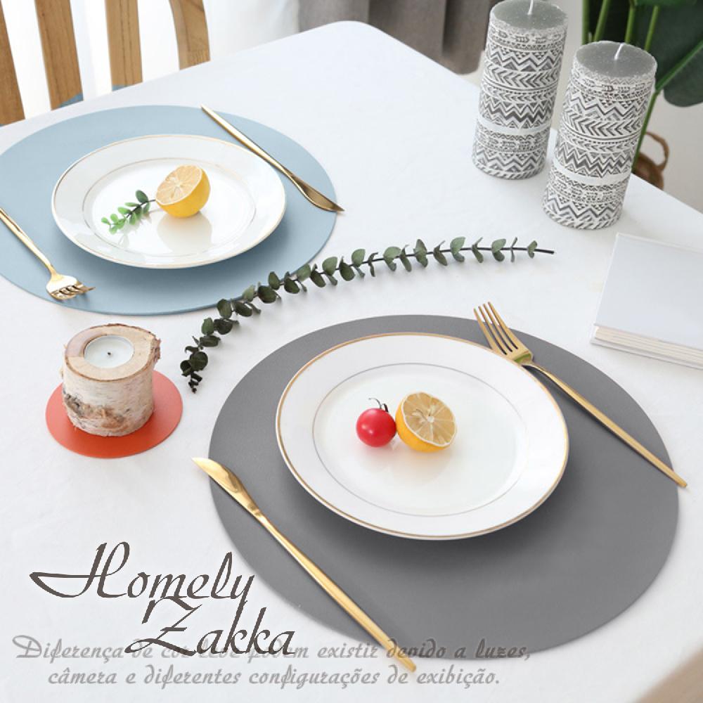 【Homely Zakka】北歐簡約皮革防燙餐墊/隔熱墊/桌墊_圓形(3色任選)