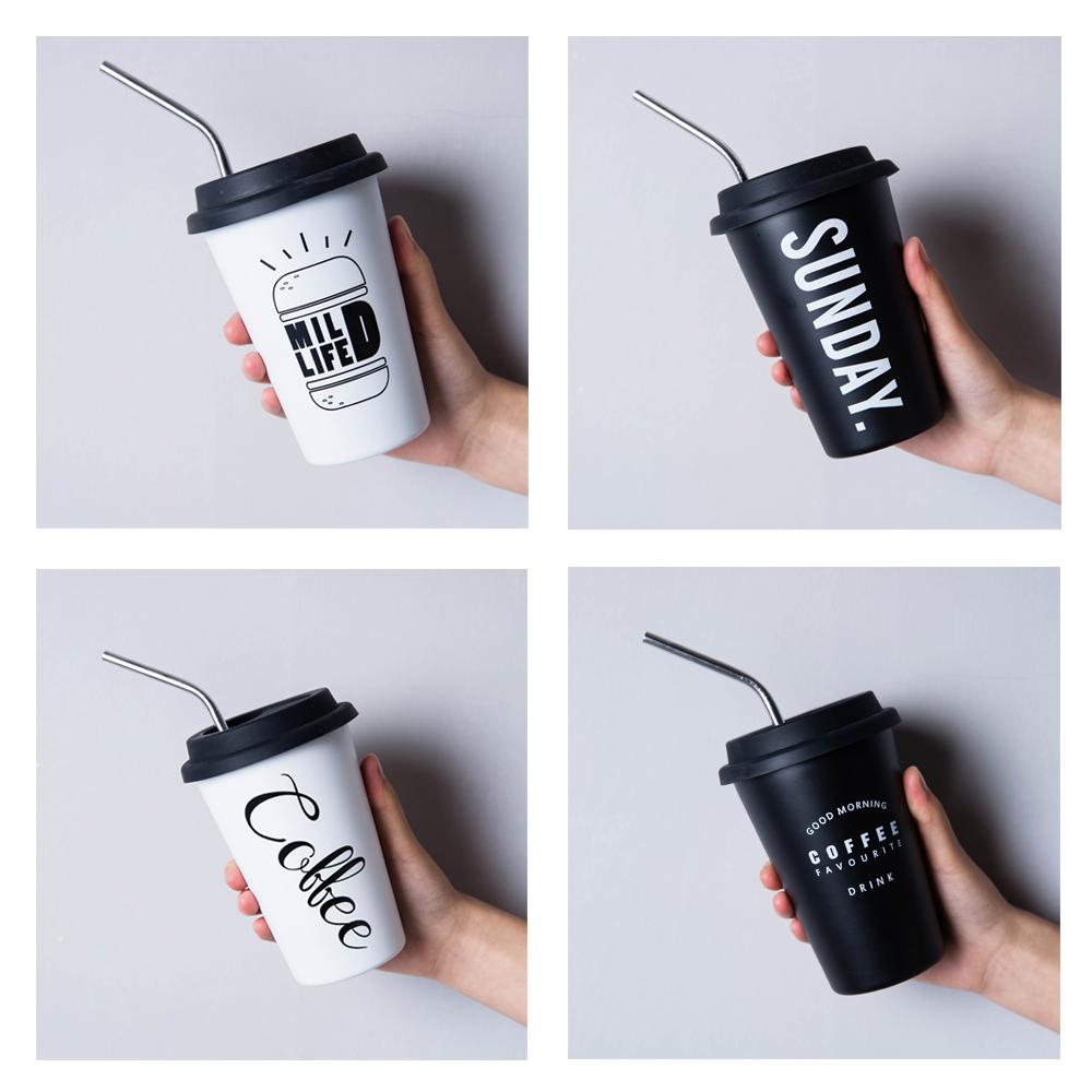 【Homely Zakka】都會簡約矽膠飲用杯蓋304不鏽鋼杯/飲料杯/咖啡隨行杯 _480ml (4款任選)