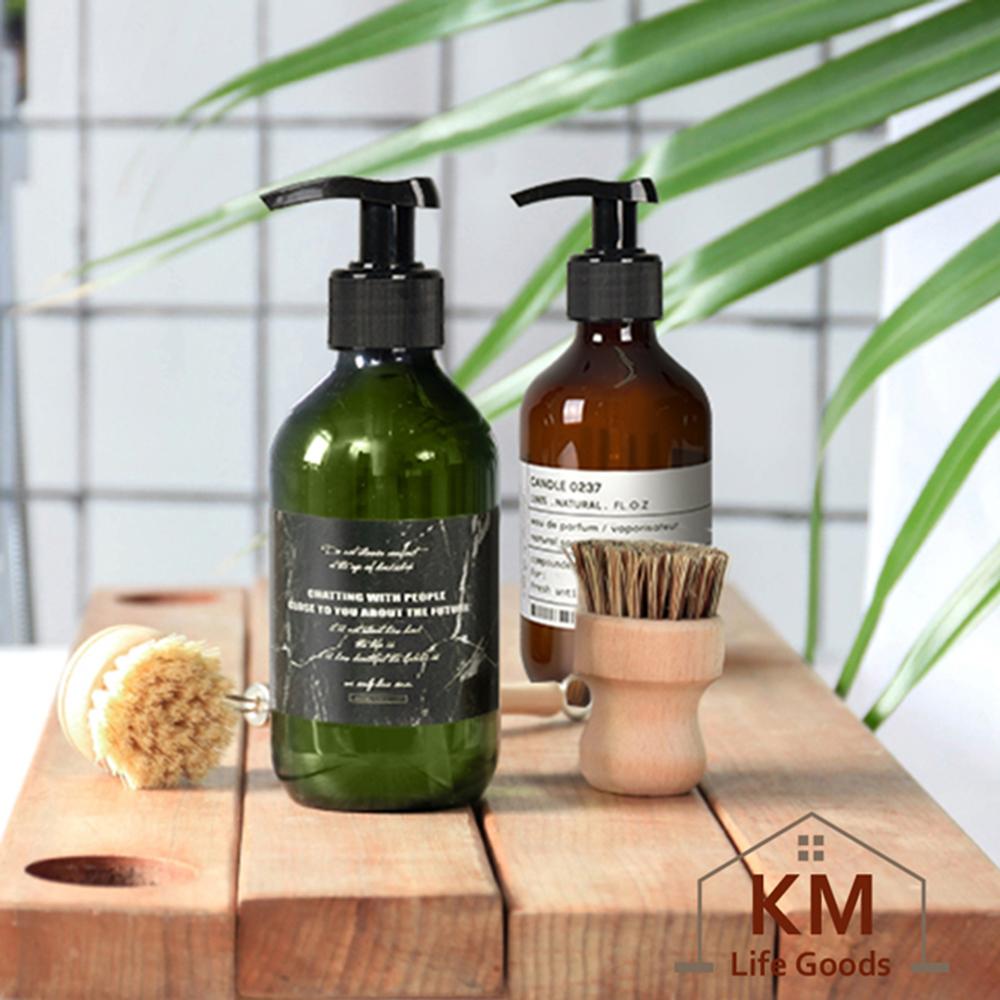 【KM生活】北歐ins風按壓洗浴瓶/乳液洗手乳分裝瓶300ml(2色任選)