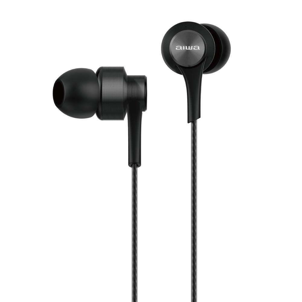 愛華 aiwa 耳機 (耳機有LOGO) EW101BK-V2