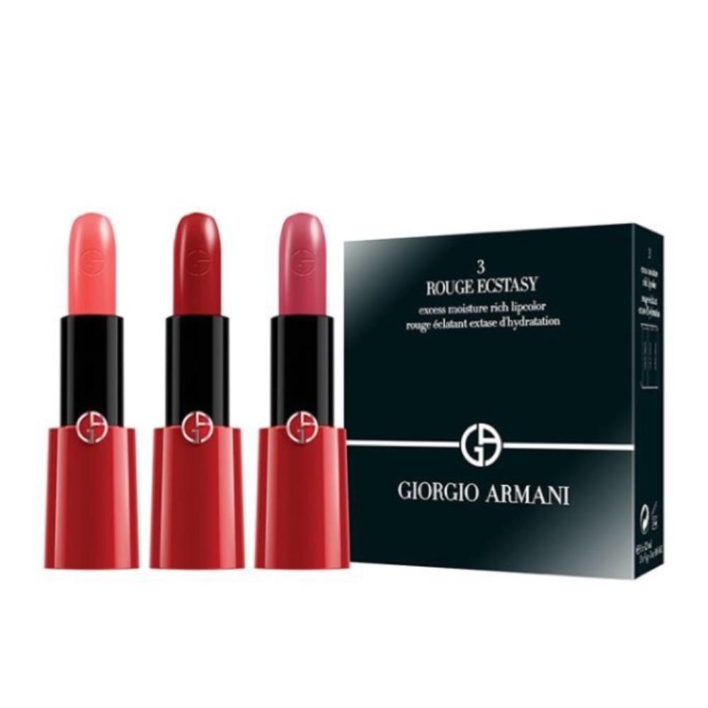 GIORGIO ARMANI 奢華訂製CC唇膏三支裝 (#302、400、509)