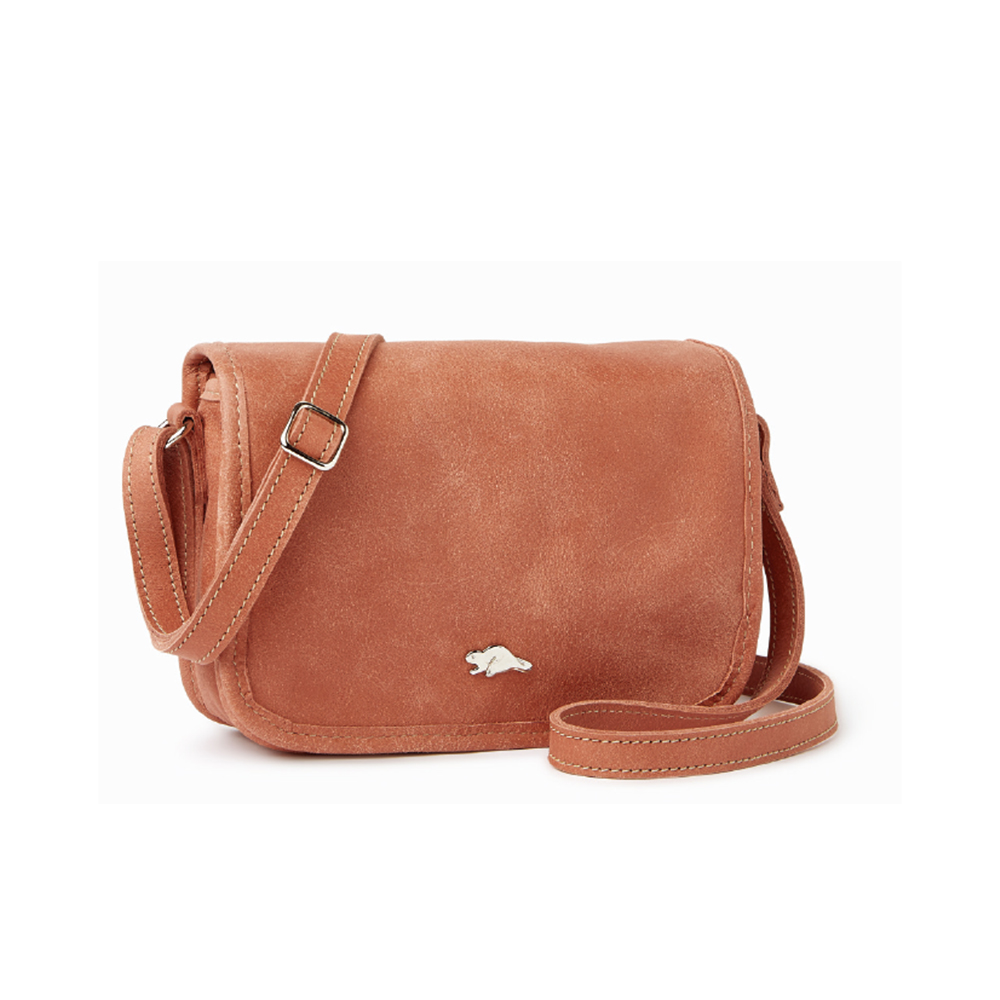 ROOTS 安潔莉娜側背包(玫瑰粉色)