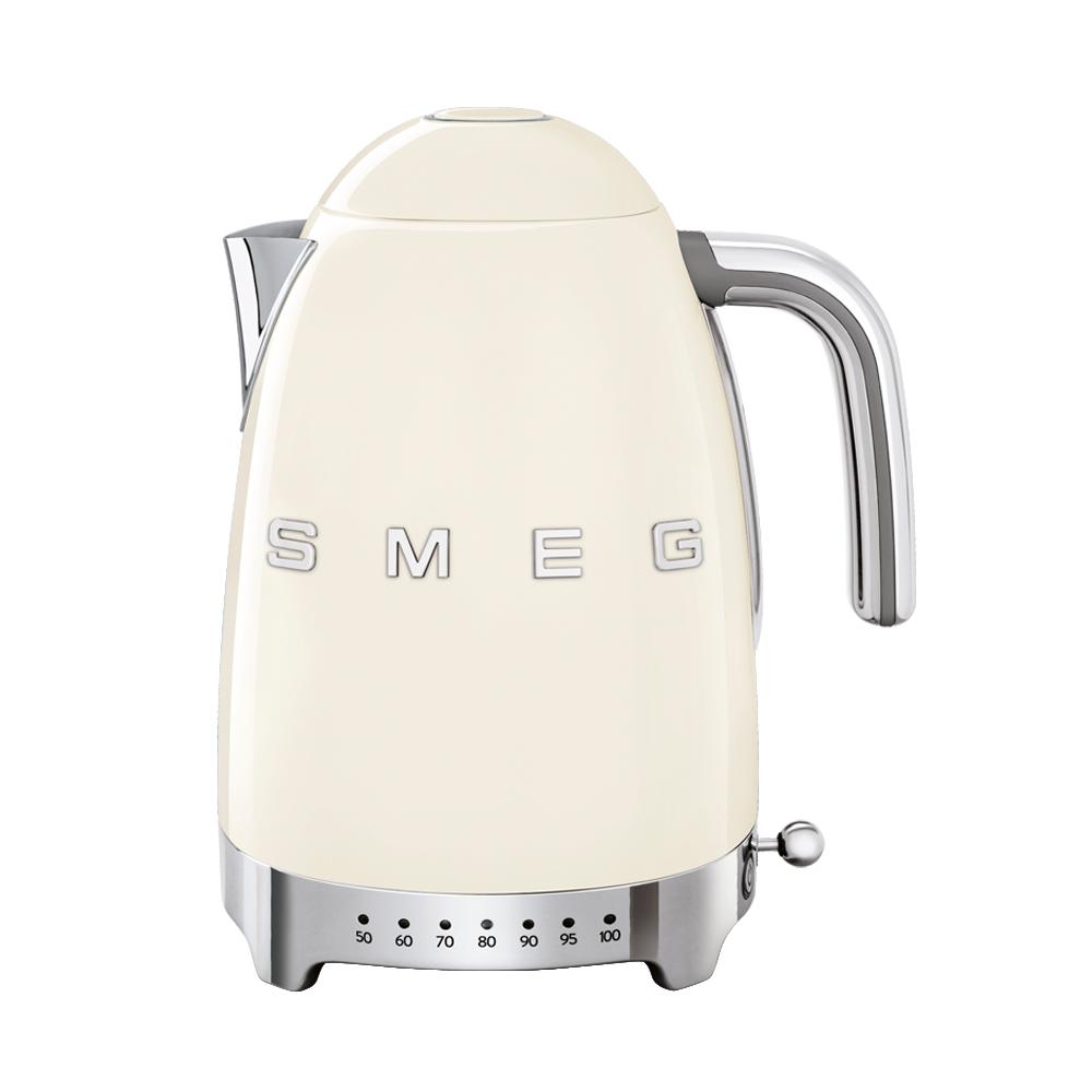 義大利SMEG控溫式電熱水壺-奶油色