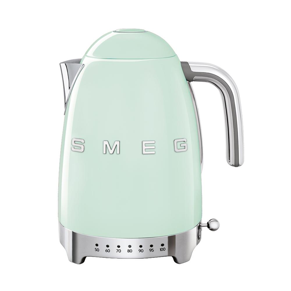 義大利SMEG控溫式電熱水壺 - 粉綠色