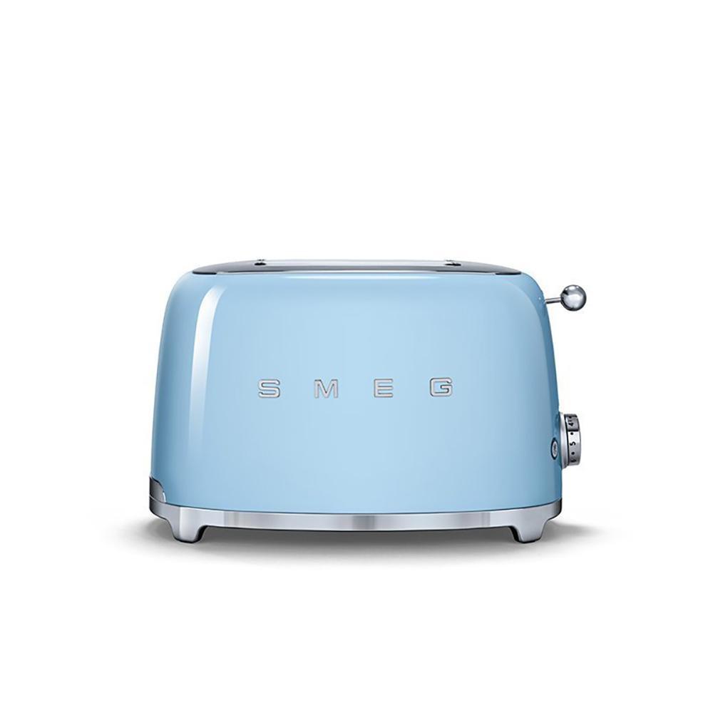 義大利SMEG兩片式烤麵包機 - 粉藍色