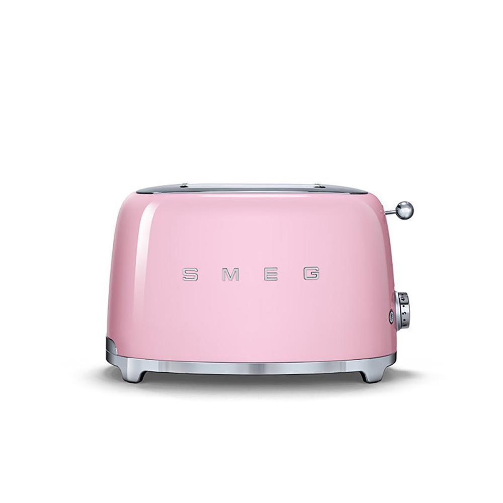 義大利SMEG兩片式烤麵包機 - 粉紅色
