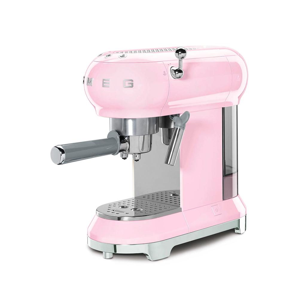 義大利SMEG義式咖啡機 - 粉紅色