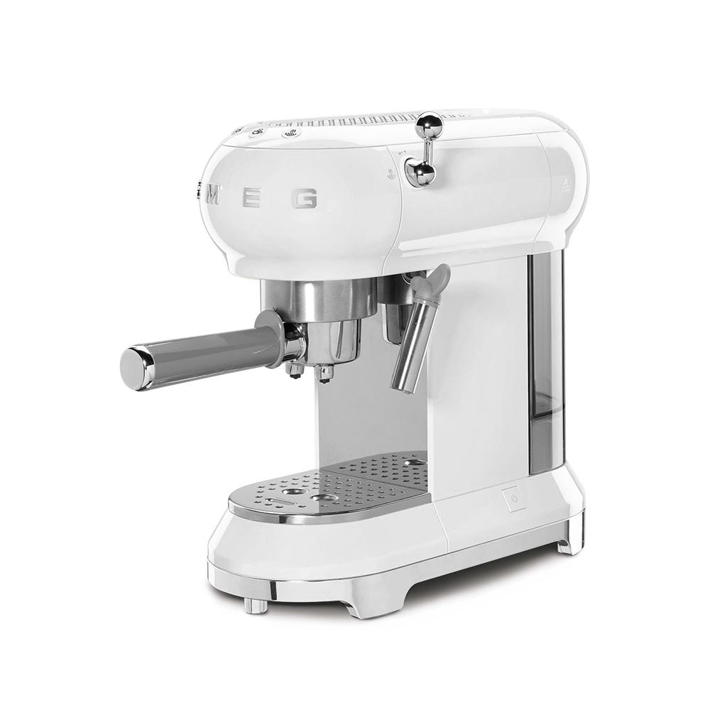 義大利SMEG義式咖啡機 - 珍珠白