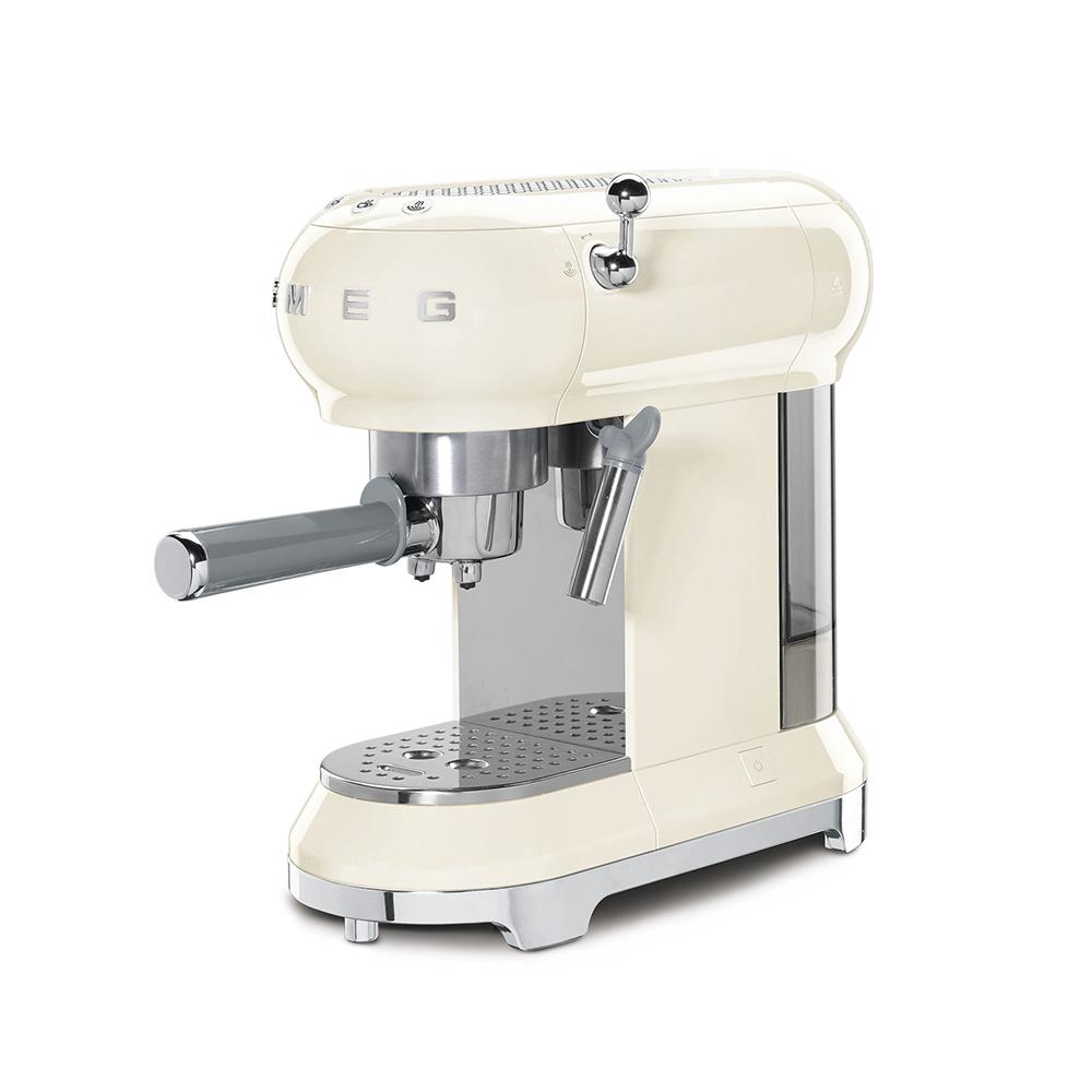 義大利SMEG義式咖啡機 - 奶油色