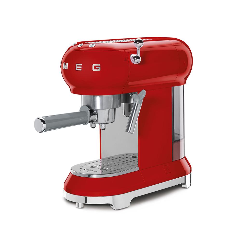 義大利SMEG義式咖啡機 - 魅惑紅