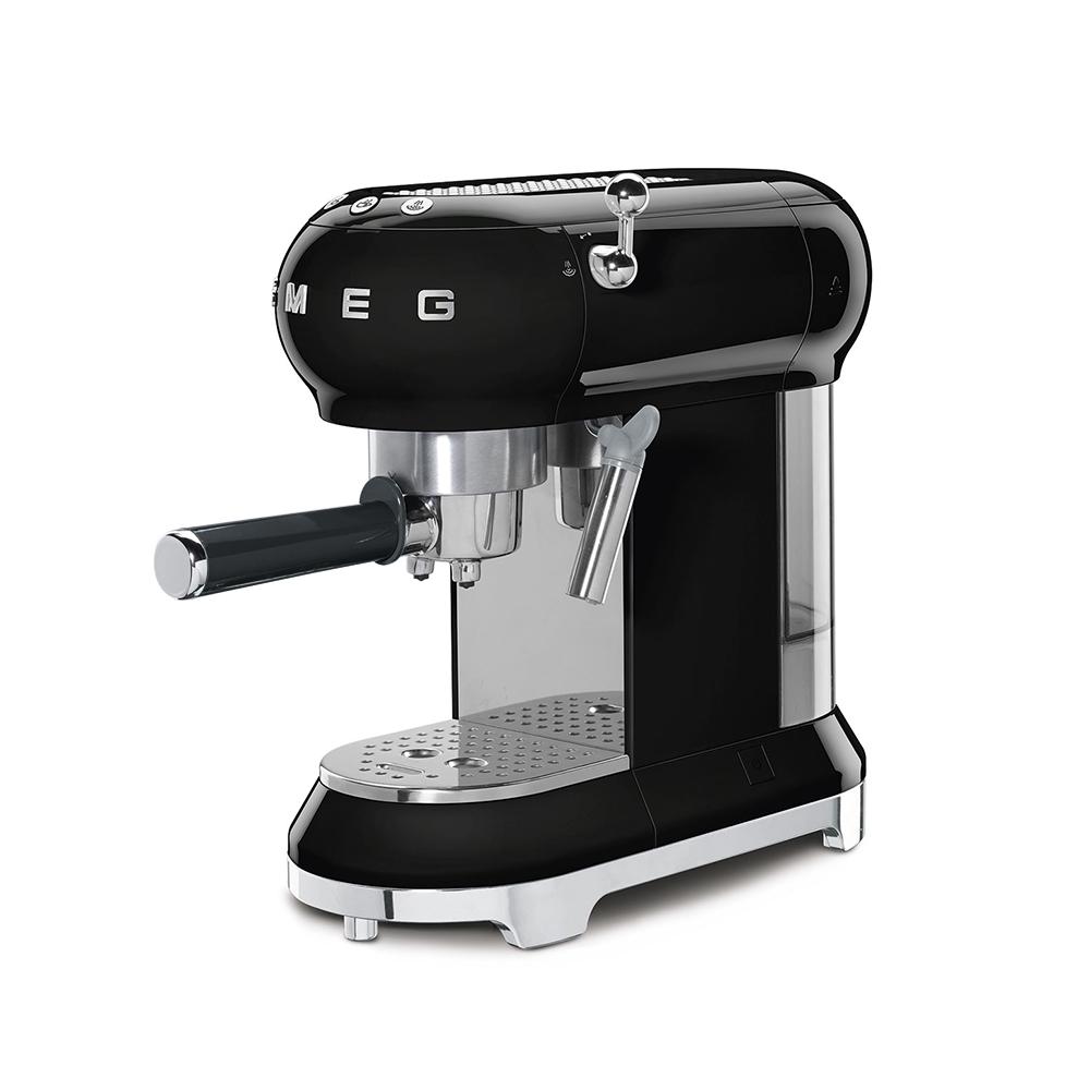 義大利SMEG義式咖啡機 - 耀岩黑