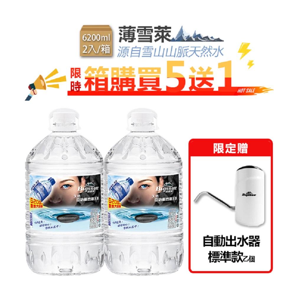 薄雪萊雪山山脈低鈉鹼性離子水 6200ml【5箱贈標準型出水器】