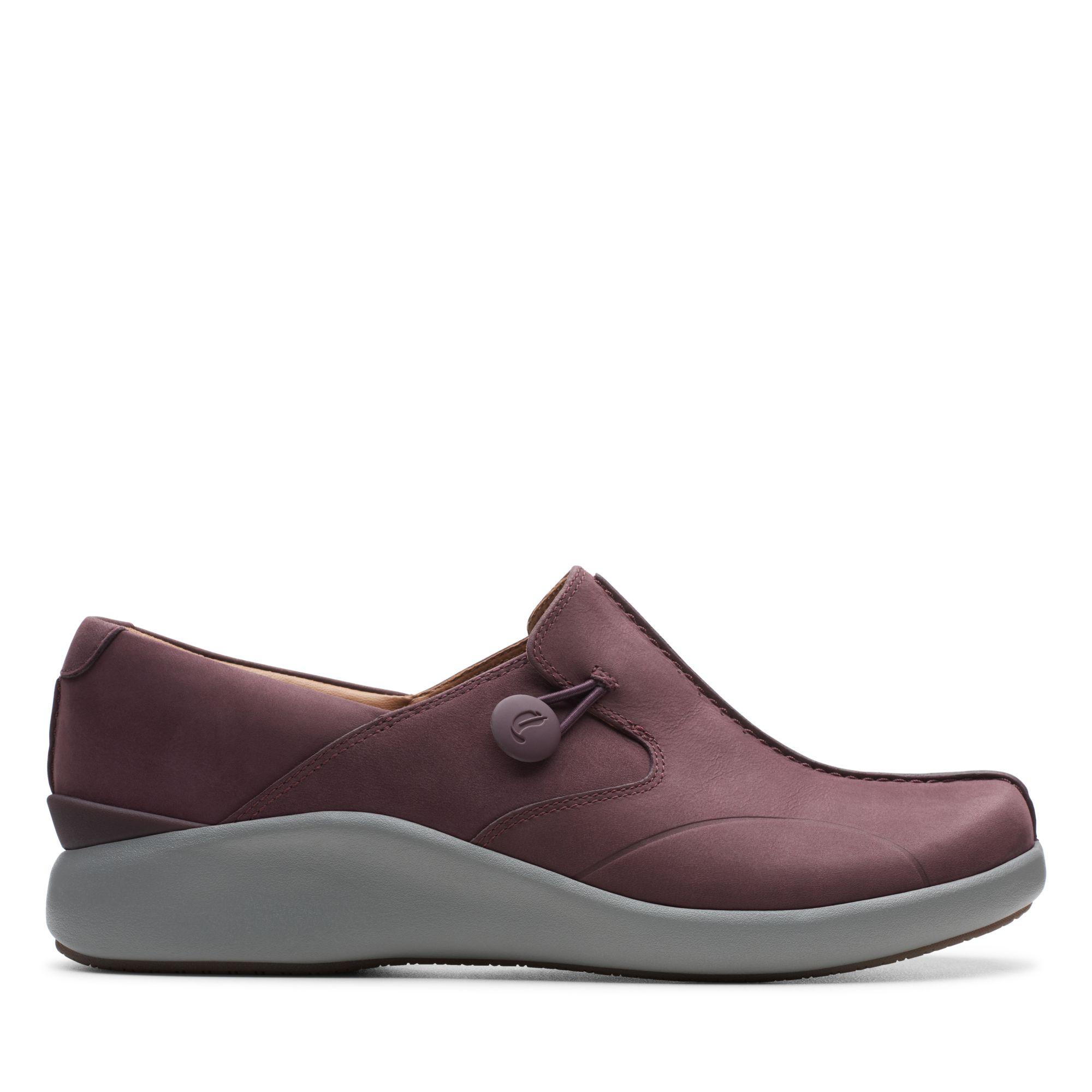 Clarks摩登經典-Un. Loop2 Walk(紫紅色)