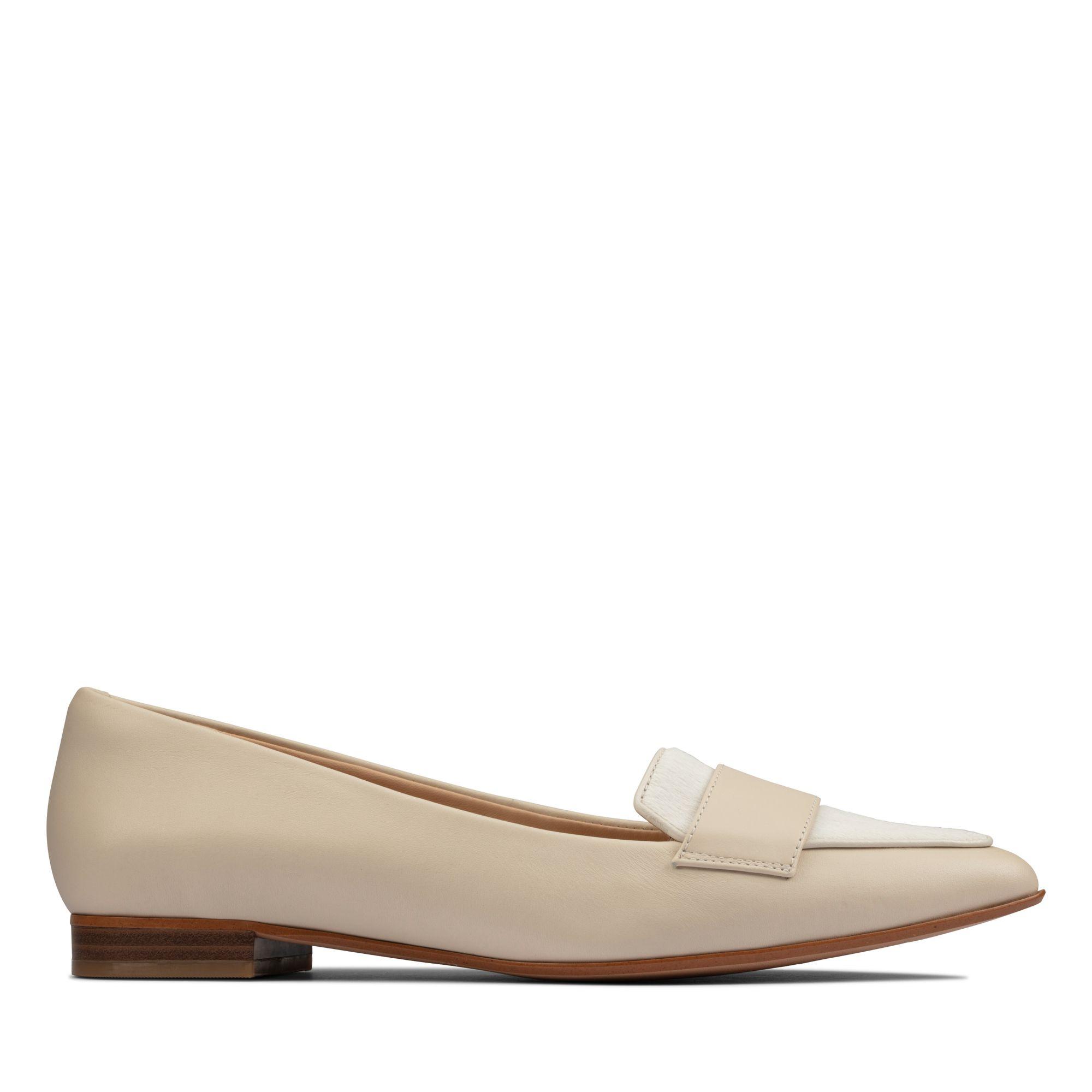 Clarks都會女伶-Laina15Loafer2尖頭樂福鞋(白黃色)