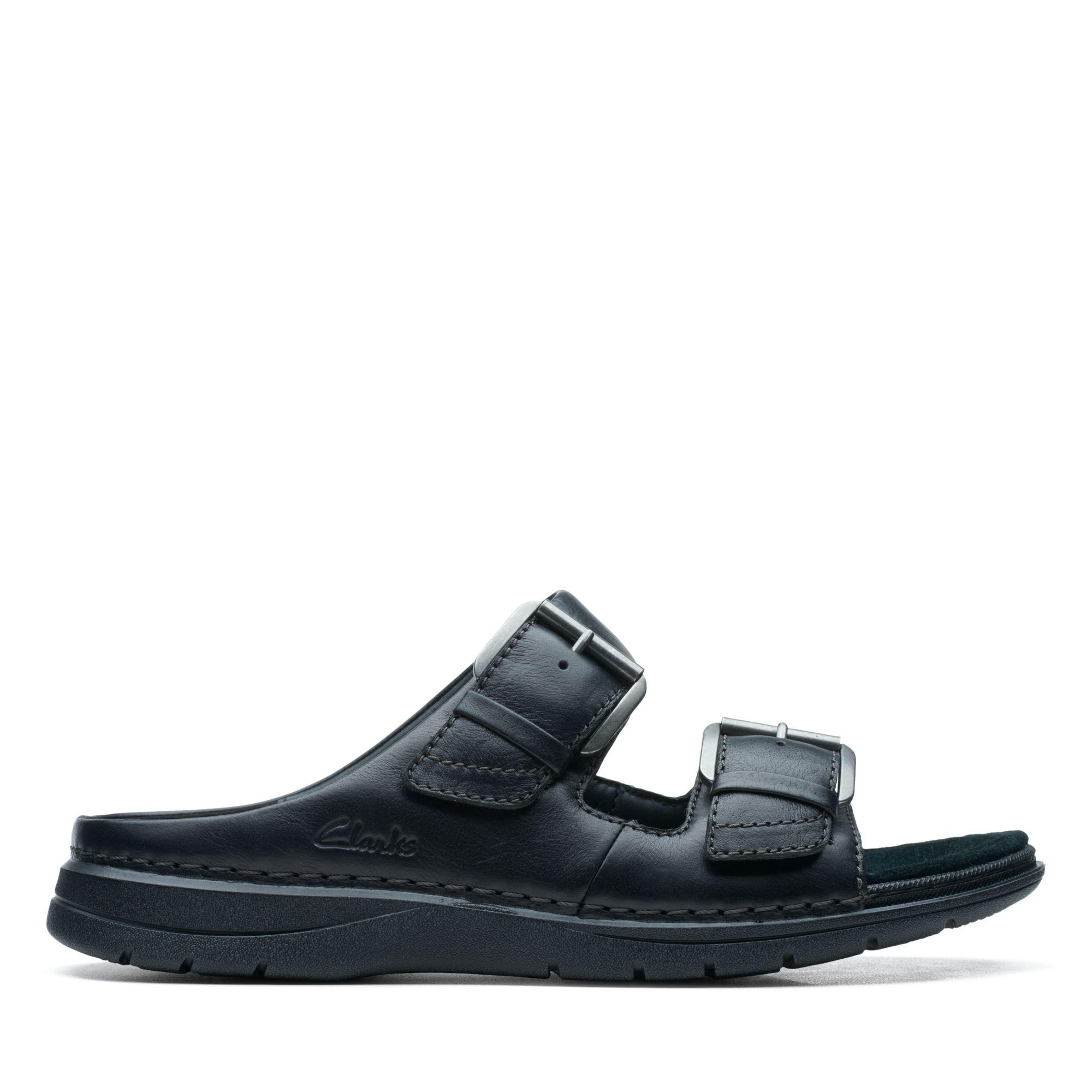 Clarks-UN自然家族-Nature Vibe摩鬼氈設計拖鞋(黑)