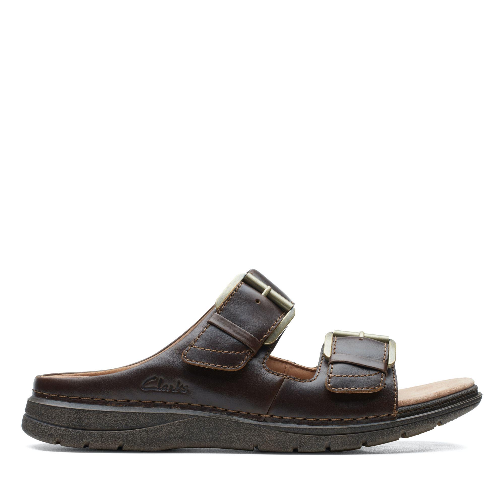 Clarks-UN自然家族-Nature Vibe摩鬼氈設計拖鞋(棕褐色)