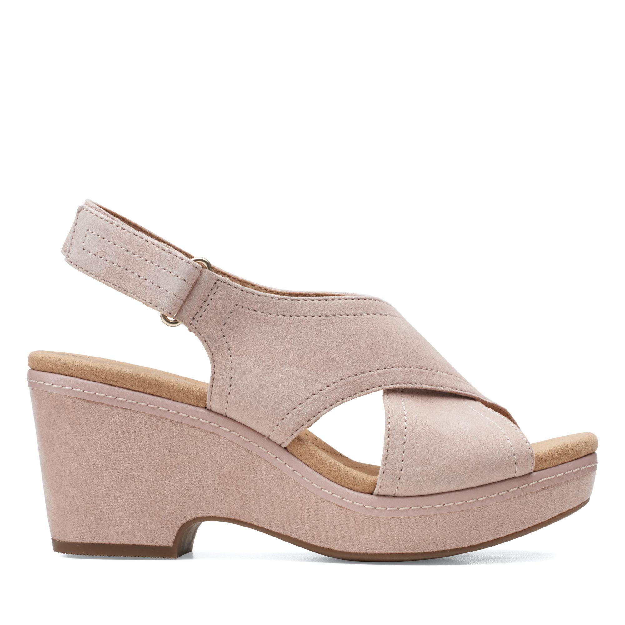 Clarks仲夏之夢-Giselle Cove前交織勺型厚底涼鞋(玫瑰粉色)
