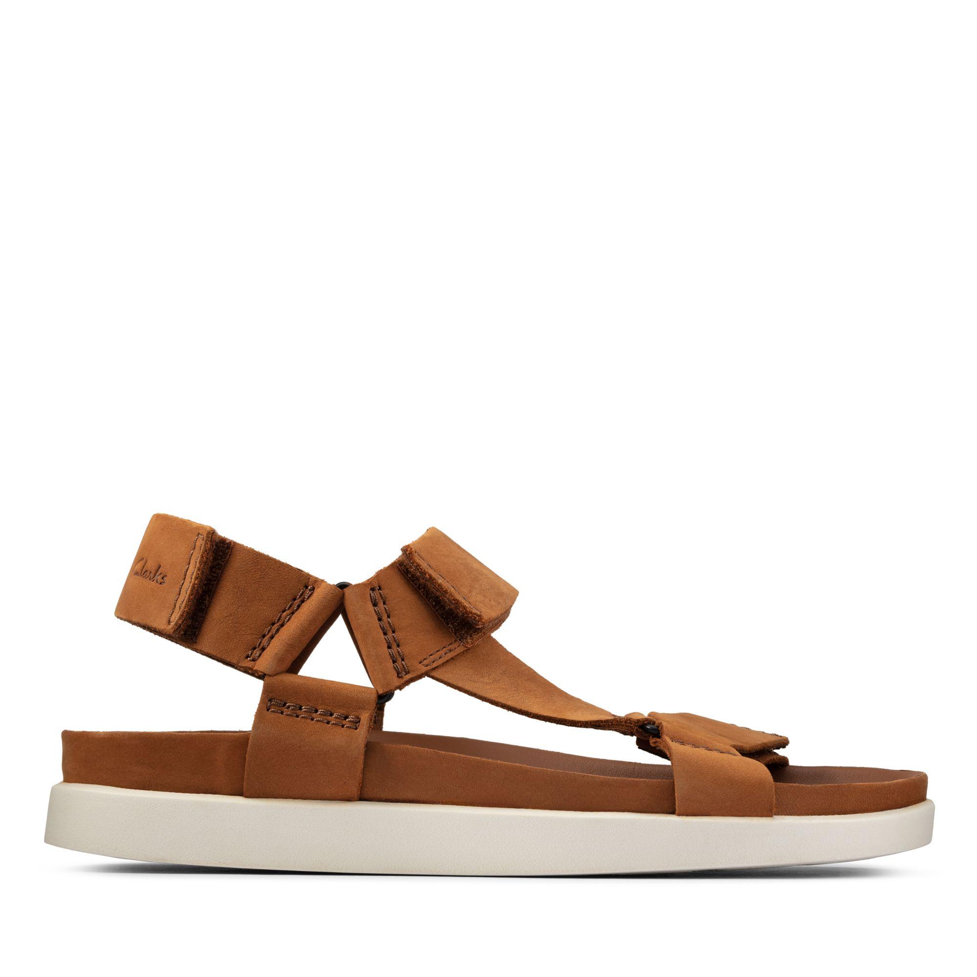 Clarks夏日街頭-Sunder Range輕量運動風涼鞋(棕褐色)