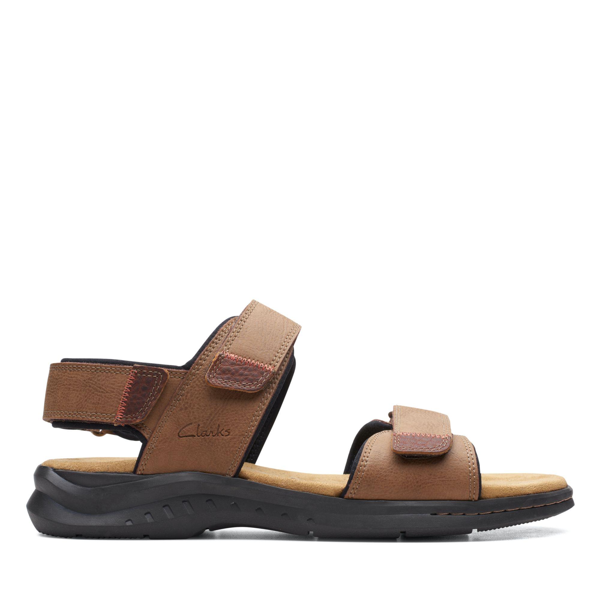 Clarks 夏日街頭-Hapsford Creek 摩鬼氈涼鞋(棕褐色)