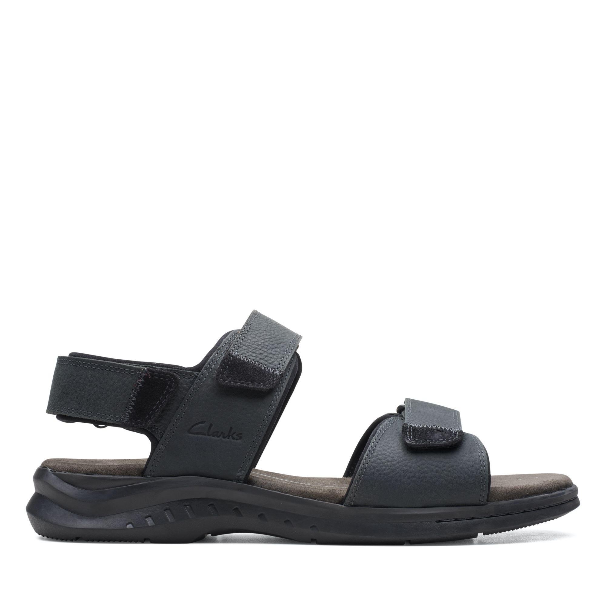 Clarks 夏日街頭-Hapsford Creek 摩鬼氈涼鞋(黑色)