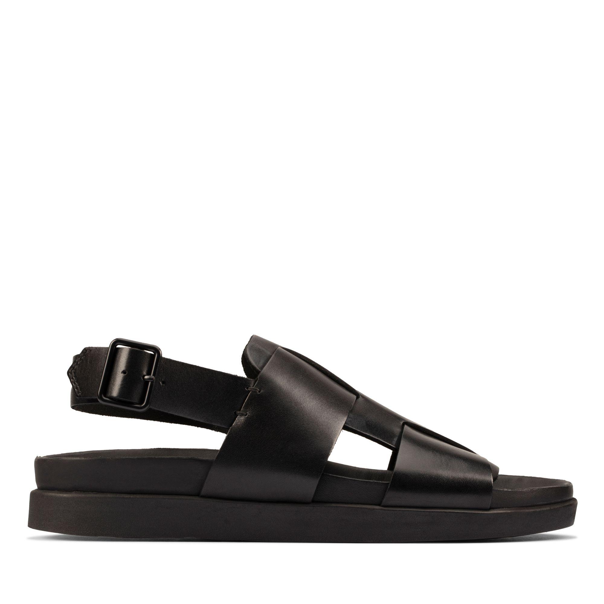 Clarks 夏日街頭-Sunder Strap輕量型休閒風扣環設計涼鞋(黑色)