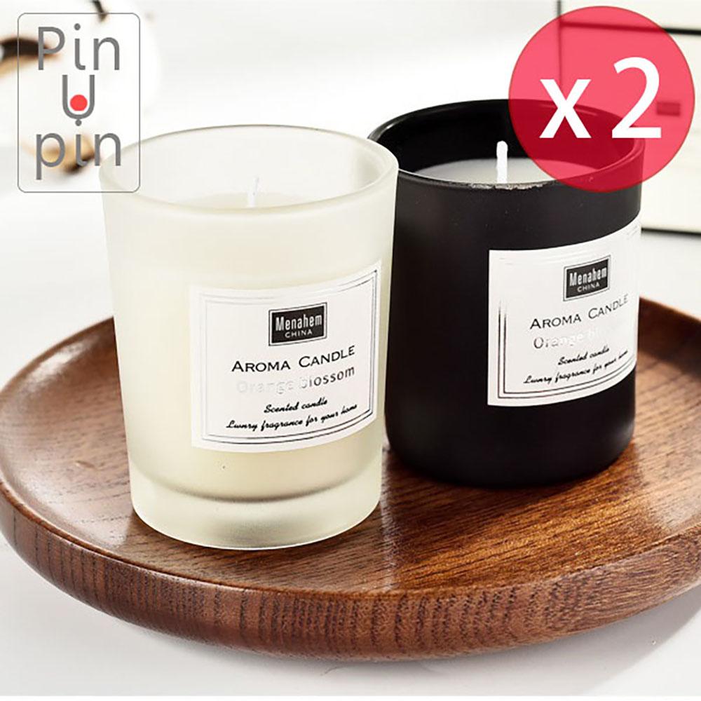PinUpin 買一送一時尚薰香蠟燭50g 環保無煙天然豆蠟香味可選
