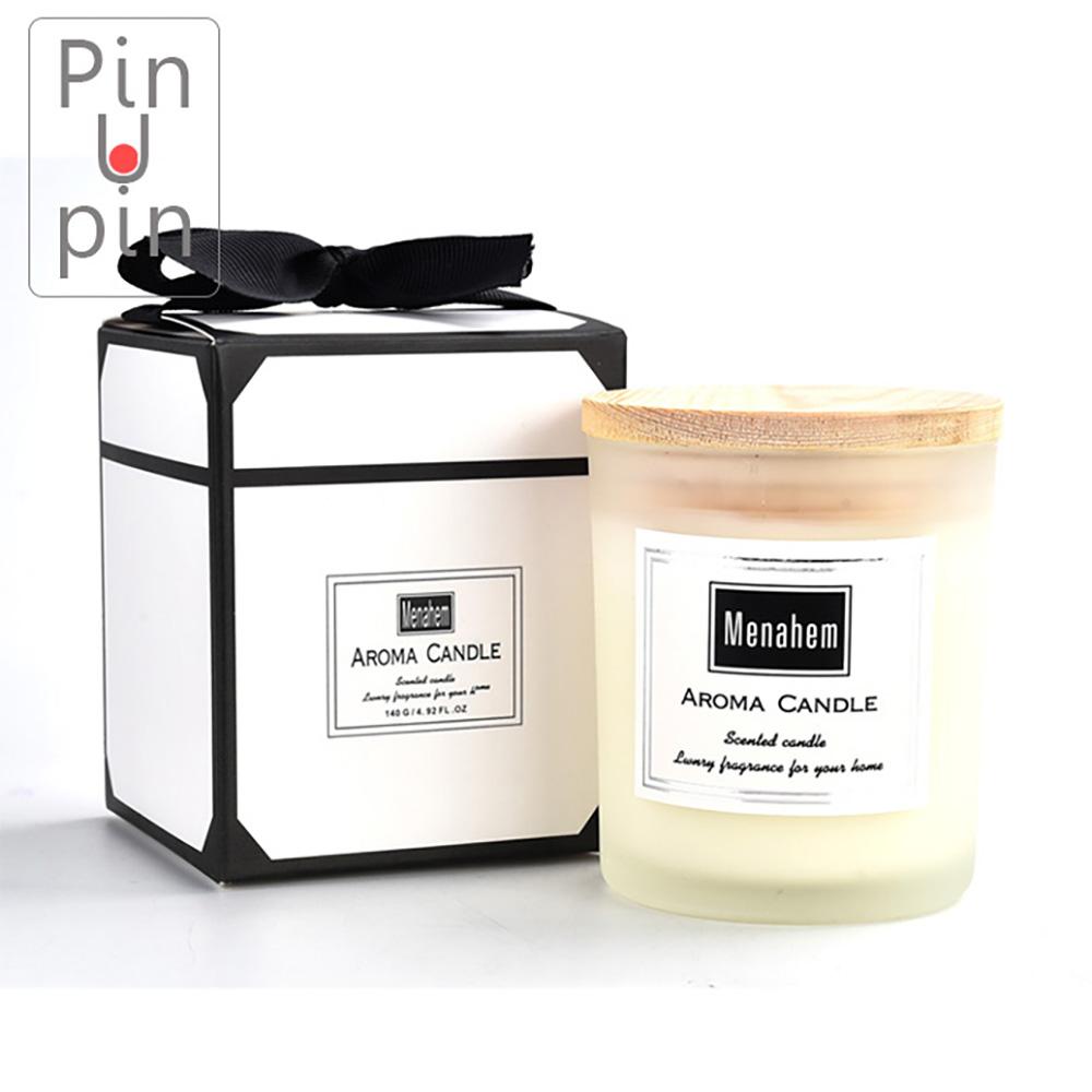 PinUpin 經典薰香蠟燭140g 環保無煙天然大豆蠟香味可選