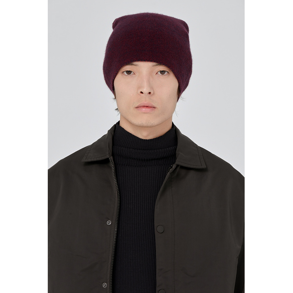 【旅法台灣設計師Peter Wu】棗紅色羊絨無邊便帽