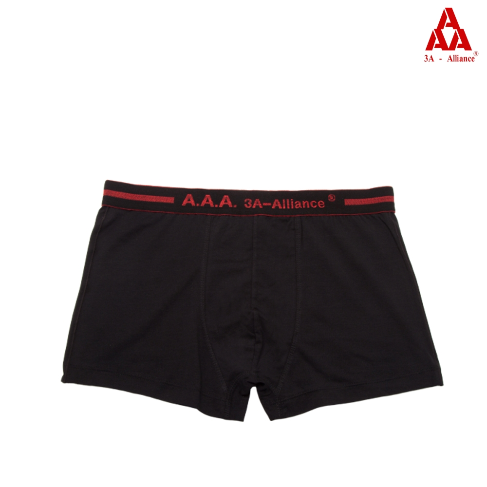 【3A-Alliance】經典素色長版四角褲