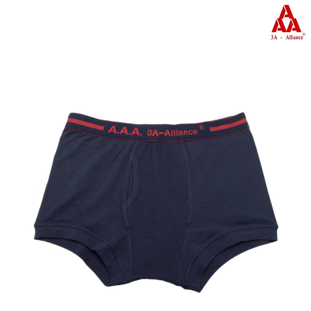 【3A-Alliance】經典素色長版開洞四角褲