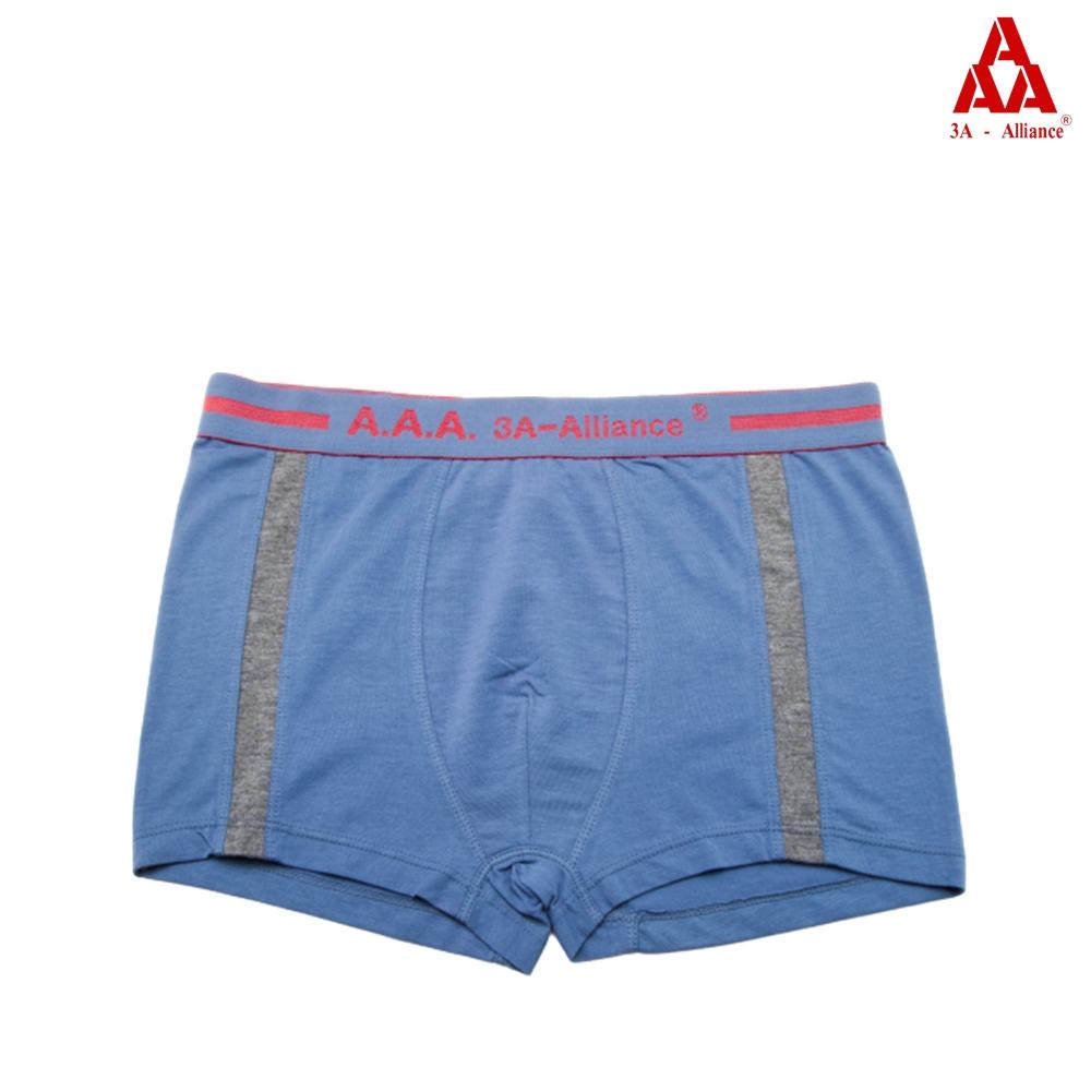 【3A-Alliance】歐美簡約線條長版四角褲