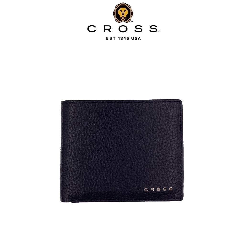 CROSS 頂級小牛皮荔枝紋4卡1零錢袋皮夾 哈德森系列(附原廠送禮提袋)