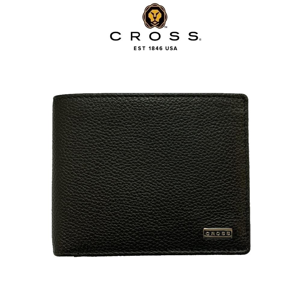 CROSS 頂級小牛皮荔枝紋8卡皮夾 哈德森系列(附原廠送禮提袋)