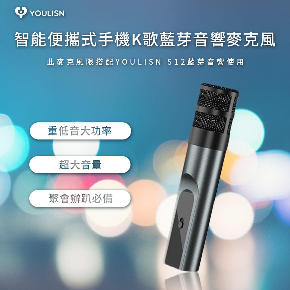 【美國Youlisn】配件麥克風_限定搭配YOULISN S12藍芽音響使用