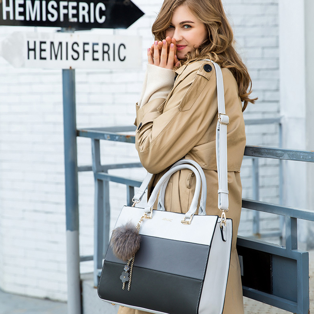 【BONum 博紐】女用三色時尚手提單肩電腦包