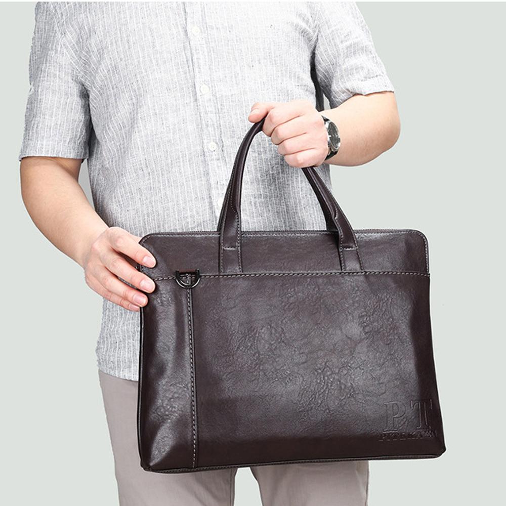 【BONum 博紐】男士簡約14吋筆電包 大容量公事包