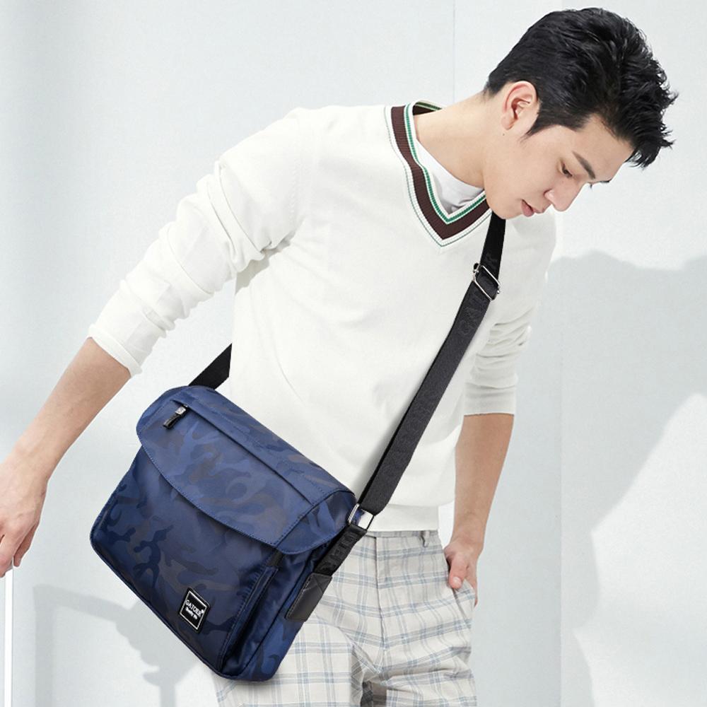 【BONum 博紐】迷彩風格A4大容量男士單肩包